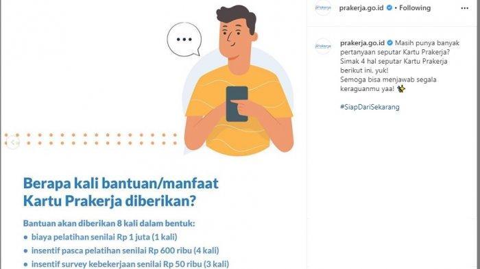 Pendaftaran prakerja.go.id Gelombang Pertama Akan Ditutup, Berikut Manfaat Kartu Pra Kerja