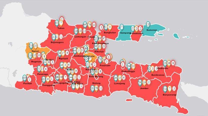 Update Corona di Jawa Timur, Jumat 10 April 2020: 256 Pasien Positif Covid-19