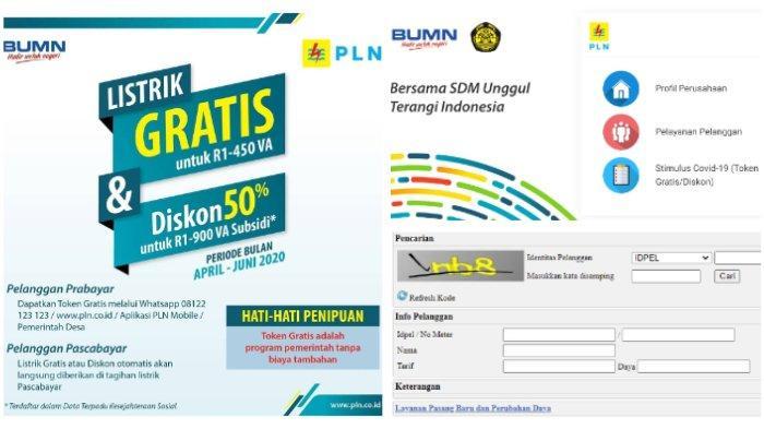Login www.pln.co.id atau Kirim ID Pelanggan via WA Cara Dapat Token Listrik Gratis PLN Juni 2020
